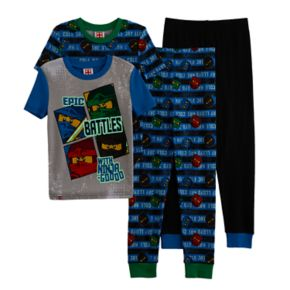 Boys 4-10 Lego Ninjago Glow-In-The-Dark 4-Piece Pajama Set