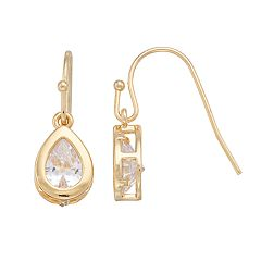 LC Lauren Conrad Cubic Zirconia Nickel Free Teardrop Earrings