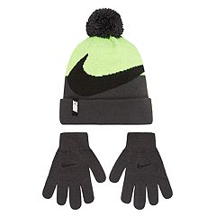 Boys Nike Swoosh Hat & Gloves Set
