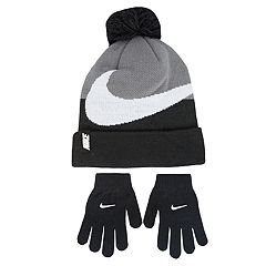 Boys Nike Swoosh Hat & Gloves Set