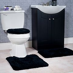 Portsmouth Home 3 pc Super Plush Bath Mat Rug Set