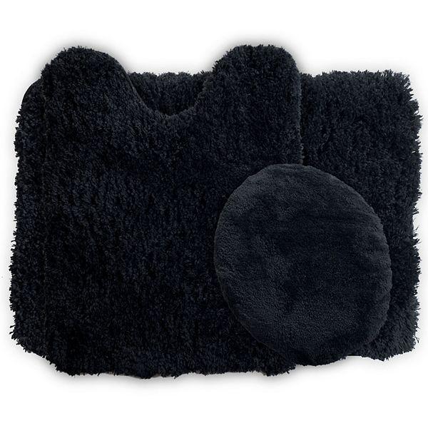 Portsmouth Home 3 Piece Super Plush Bath Mat Rug Set