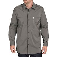 Men's Dickies Regular-Fit Zip-Pocket Moisture-Wicking Button-Down Work Shirt