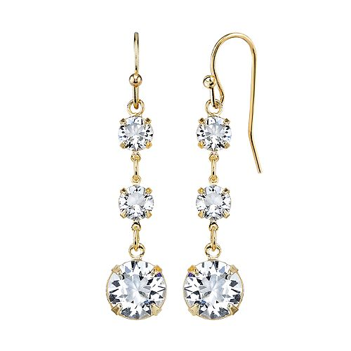 1928 Crystal Gold-Tone Linear Earrings