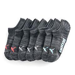 Women's PUMA 6 pkNo-Show Athletic Socks + Plus Bonus Pair