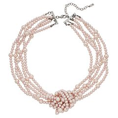 Simply Vera Vera Wang Pink Simulated Pearl Knot Necklace