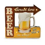 Bey-Berk Beer Served Here LED Metal Sign
