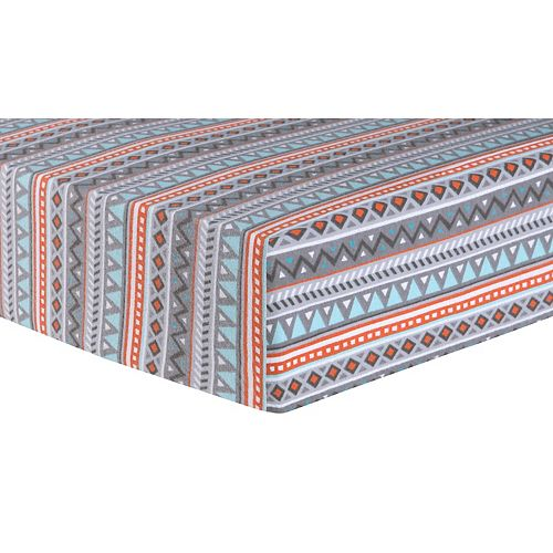 Trend Lab Tribal Deluxe Flannel Fitted Crib Sheet