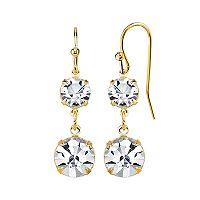 1928 Crystal Double Drop Earrings