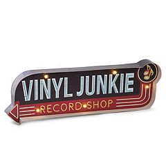Bey-Berk Vinyl Junkie LED Sign