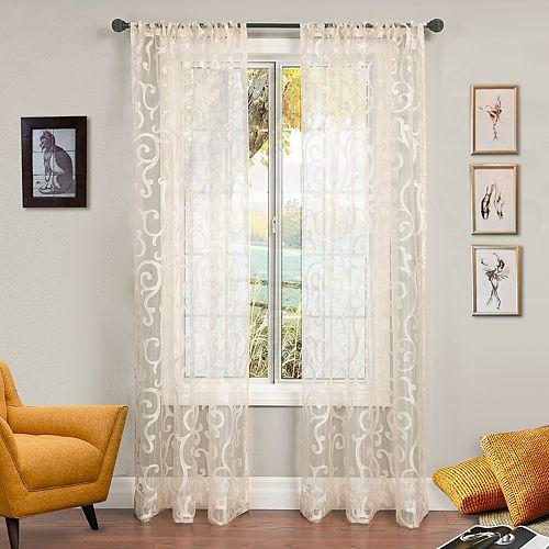 Softline 1-Panel Serafine Window Curtain
