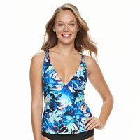 Women's N Dreamy Tropical Macrame Bust Enhancer Tankini