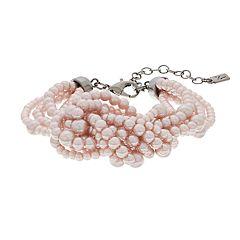 Simply Vera Vera Wang Pink Simulated Pearl Knot Bracelet