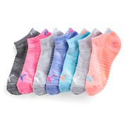 Women's PUMA 6 pkMarled Low-Cut Athletic Socks + Plus Bonus Pair