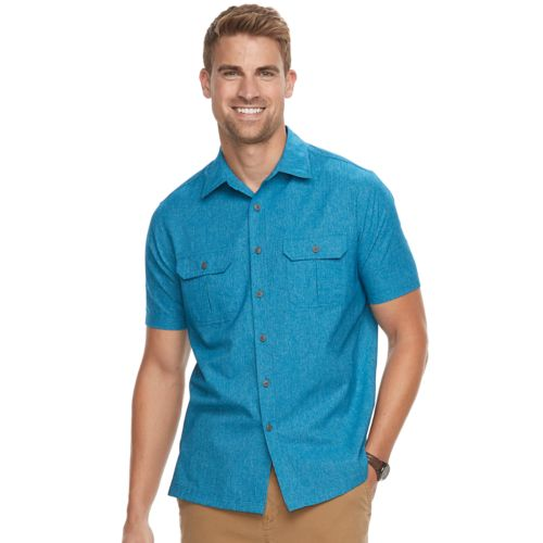 Men's Croft & Barrow® Classic Fit Quick Dry Outdoor Button Down Shirt by Croft & Barrow
