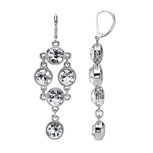 1928 Crystal Chandelier Earrings