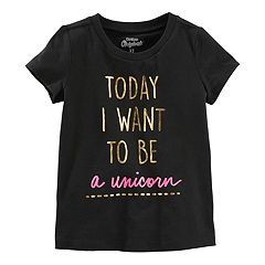 Girls 4-12 OshKosh B'gosh® 'Today I Want to be a Unicorn' Foil Graphic Tee