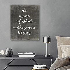 Artissimo Designs 'What Makes You Happy' Canvas Wall Art