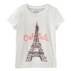 Girls 4-12 OshKosh B'gosh® 'Ooh La La' Eiffel Tower Cherry Blossom Graphic Tee
