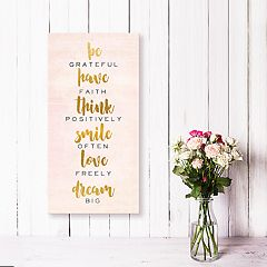Artissimo Designs 'Be Grateful' Canvas Wall Art