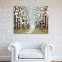 Artissimo Designs Silver Forest Canvas Wall Art