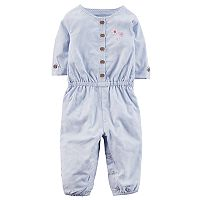Baby Girl Carter's Embroidered Jumpsuit