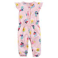 Baby Girl Carter's Floral Flutter Sleeve Jumpsuit