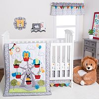 Trend Lab Jungle Ferris Wheel 3 pc Crib Bedding Set