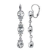 1928 Crystal Link Linear Earrings