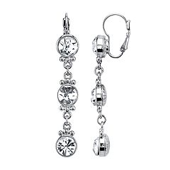 1928 Crystal Link Linear Earrings