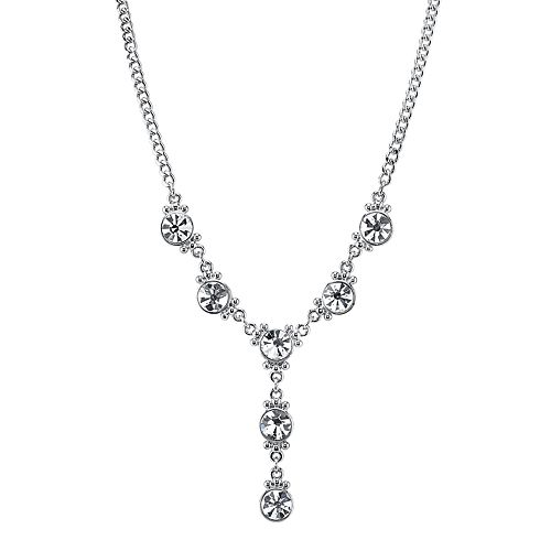 1928 Crystal Y Necklace