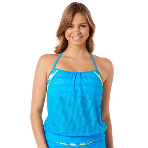 Women's Reebok Rebel Stripe 2-in-1 Tankini Top