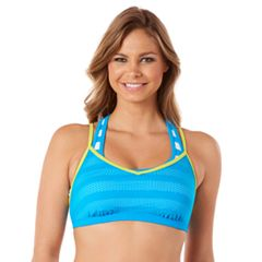 Women's Reebok Rebel Stripe 2-in-1 Bikini Top