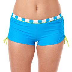 Women's Reebok Rebel Stripe Boyshort Swim Bottoms