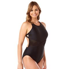 Women's Reebok It's a Wrap Mesh One-Piece Swimsuit