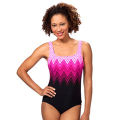 Women's Reebok Electric Lightning Zigzag One-Piece Swimsuit