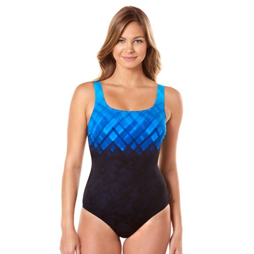 d41ff82138f93 Women s Reebok Underwater Plaid One-Piece Swimsuit