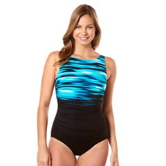 Women's Reebok Skyview High-Neck One-Piece Swimsuit