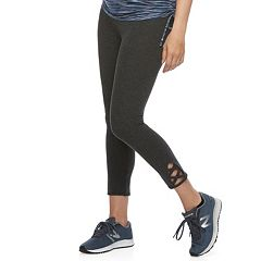 Maternity a:glow Lace-Up Full Belly Panel Workout Capri Leggings