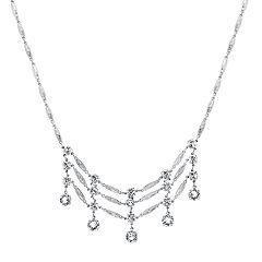 1928 Crystal Ladder Necklace