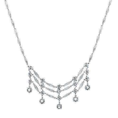 1928 Crystal Ladder Necklace