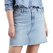 Plus Size Levi's® Distressed Denim Skirt