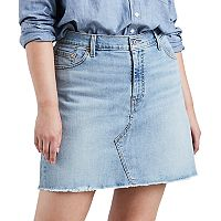 Plus Size Levi's® Distressed Denim Skirt