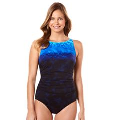Women's Reebok Surftastic High-Neck One-Piece Swimsuit