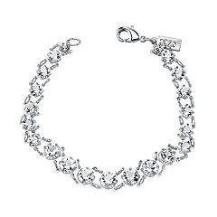 1928 Crystal Graduated Link Bracelet
