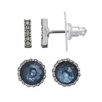 Simply Vera Vera Wang Round & Bar Nickel Free Stud Earring Set