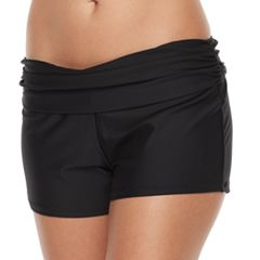 Women's N Solid Roll Top Thigh Minimizer Swim Shorts