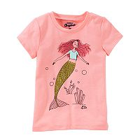 Girls 4-8 OshKosh B'gosh® Glitter Mermaid Graphic Tee