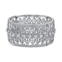 1928 Crystal Lattice Stretch Bracelet