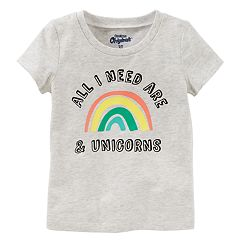 Girls 4-8 OshKosh B'gosh® 'All I Need Are Rainbows & Unicorns' Graphic Tee